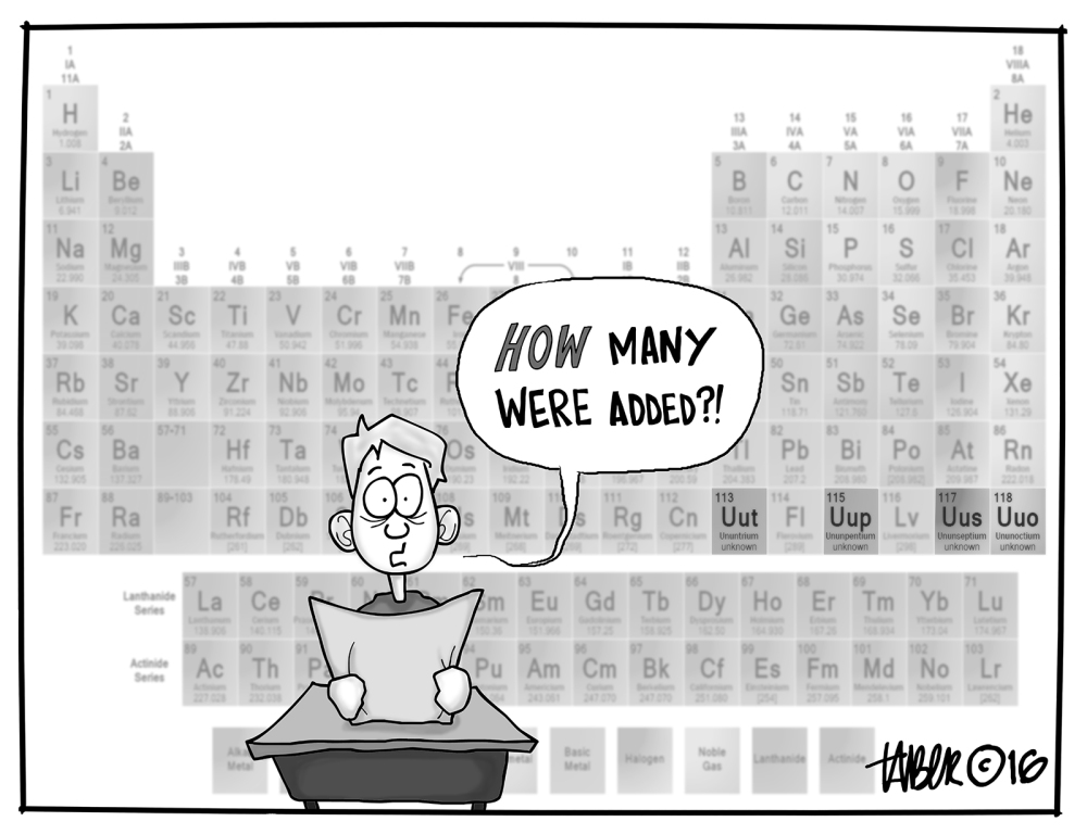 January 2016 the cartoons of forest taber four new elements added to the periodic table urtaz Image collections