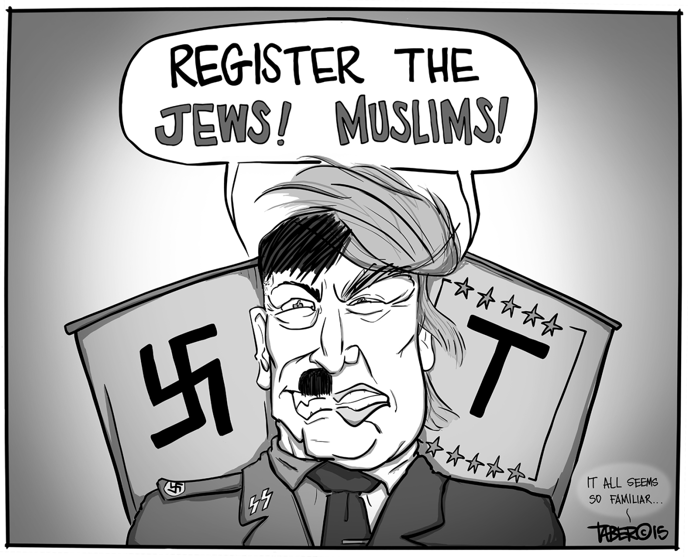 Image result for trump and nazis cartoons