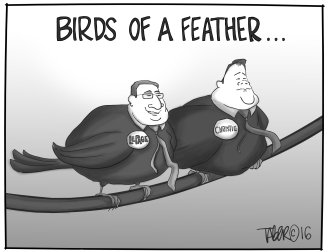 Birds of a Feather - LePage stumps for Chris Christie (imagine that, Trump wasn't his first choice)