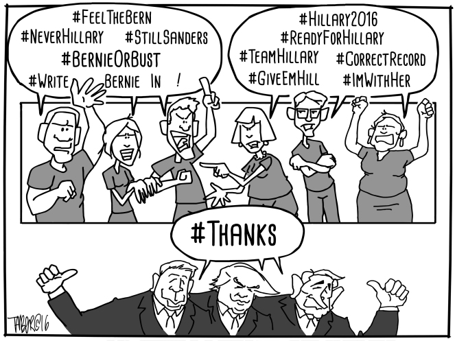 """Dems Divided - Pay special note to the hastags, especially the """"Correct the Record"""""""