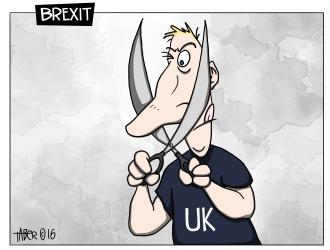 Brexit - It isn't easy illustrating idioms