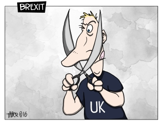 Brexit - It isn't easy illustrating idioms