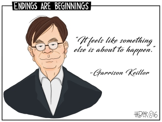 PHC Keillor Farewell - I usually shy away from what I see as celebrity homages. Keillor was something of a worthwhile exception for me.