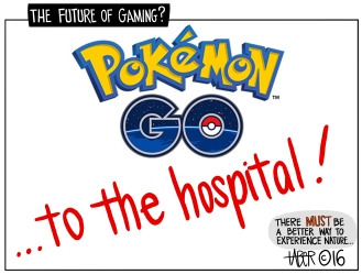 Pokemon Go - I'm happy to admit this is my worst cartoon of the year.