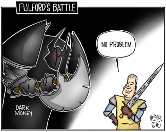 Fulford's Battle - Dark Money: Affecting candidates near YOU