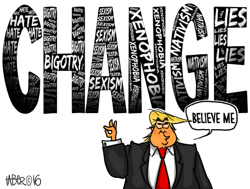 Trump Change - From his own mouth