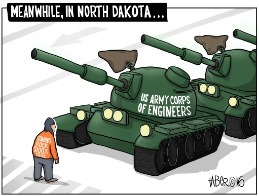 Tiananmen North Dakota - Not an unfair comparison given the history of the players involved
