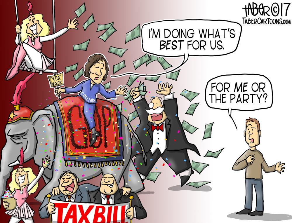 Collins Tax Vote
